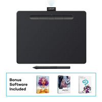 Bảng vẽ Wacom Intuos, Medium Bluetooth - Black (CTL-6100WL/K0-CX)
